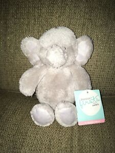 Carters Precious Firsts Elephant Plush Fuzzy Gray Lovey Grey RARE HTF NWT