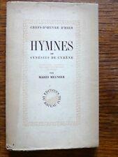 Littérature grecque HYMNES DE  SYNÉSIUS DE CYRÈNE