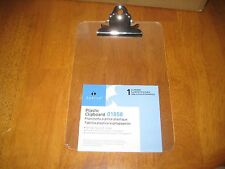 Sparco Clipboard 6 X 9 Spring Clip Plastic Clear Spr01858
