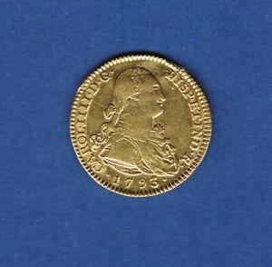 ESPAGNE.MONNAIE OR.2 ESCUDOS OR CHARLES IV 1793 M M.F MADRID 6,70 grammes A661