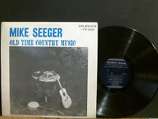 MIKE SEEGER  Old Time Country Music   LP  w/booklet New Zealand Folkways RARE !!