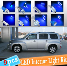 9-pc Blue LED Interior Light Bulbs Package Kit Fit 2006-2011 Chevrolet Chevy HHR