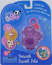 LPS Littlest Pet Shop Teeniest Tiniest SET Sheep Dog & Cat Paw Clip-On Case NEW