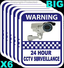 CCTV Camera Warning Sticker Home Surveillance Vinyl Decal Video Security Sign X6