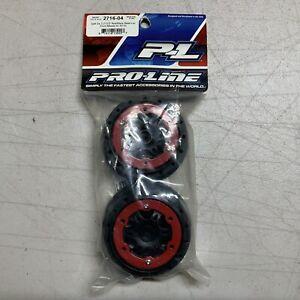 "Pro-Line Racing (2716-04) Split Six 2.2""/3.0"" Bead-Loc Front Wheels (SC10) NOS"