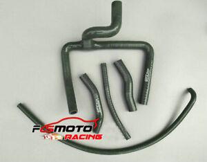Silicone radiator Y hose For Honda CR250R CR 250R 2-stroke 2000 2001 00 01 BLACK