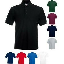 Hommes Fruit Of The Loom Lourd Polyester Riche Col Polo