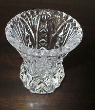 VINTAGE BUD VASE - HEAVY CUT GLASS - BY ZAJECAR KRISTAL