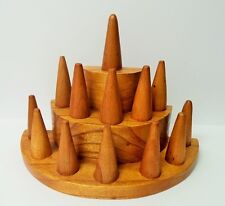 Candy Brown Color Wood Ring Display