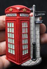 TELEPHONE LONDON 3D FRIDGE MAGNETIC HOLDER RESIN SOUVENIR COOLER RED NEW GIFT