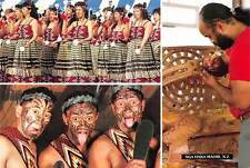 New Zealand NGA Haka Maori Culture Poi Dancers Wood Carving
