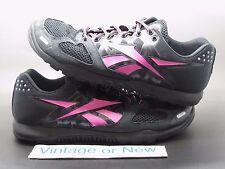 Women's Reebok Realflex Crossfit 2.0 Black Pink Running Shoes sz 8.5