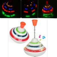 Spinning Top Gyro Spinner LED Music Flash Light Kids Toy Classic Xmas Gift UK