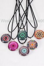 6 PC Aztec Corded Double Sided Glass Fashion Necklaces Costume Wholesale Jewelry