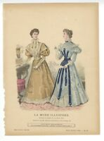 """Ladies Fashion Print - """"La Mode Illustree"""" 1896  No. 38"""