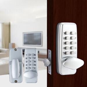 Smart Keyless Mechanical Digital Code Keypad Entry Door Lock Home Security Knob