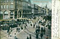 Ansichtskarte Hannover Georg-Strasse 1904 Straßenbahn Personen(Nr.9604)