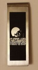 NFL * Cleveland Browns * Stainless Steel Black Logo Money Clip * Jewelry * New