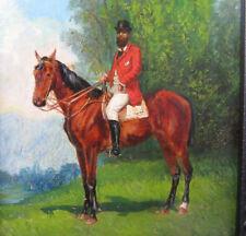 Fischer Henry attr. 1844 - 1898 Schweiz Reiter PARFORCE Pferd Reitpferd