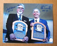 Detroit Tigers Alan Trammel - Jack Morris signed COPY 8x10  HOF Induction Pic