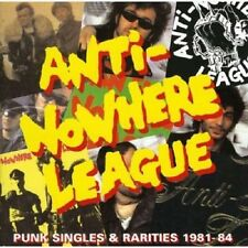 Anti-Nowhere League Punk Singles & Rarities 1981-84 CD NEW SEALED So What+