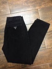 Womens Vintage GUESS Mom Jeans Black Denim High Waisted Tapered Leg Size 30