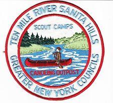 """BOY SCOUT  TEN MILE RIVER   SANITA HILLS  CANOE OUTPOST     6""""  JP      GNYC  NY"""