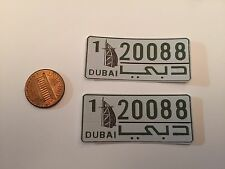1/5 scale Dubai  license plate decals for your r/c car or truck