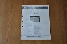 Panasonic R-1030 Radio Genuine Service Manual. R 1030