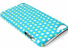 iPod Touch 5th & 6th Gen - HARD SNAP ON SKIN CASE TEAL TURQUOISE BLUE POLKA DOTS
