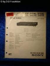 Sony Service Manual ST S215 / S315 Tuner  (#0564)