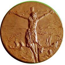 Crucified Jesus /Luis de Requesens/Bronze Medal by Calico Editors Barcelona M19a