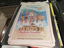 Return Of The Nerds Ii , Usa Today , Newspaper Clipping / Poster , 7/1/87