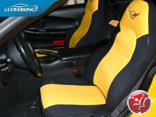Premium Genuine Neoprene Tailored Seat Covers for Chevy Corvette C5 with Logo