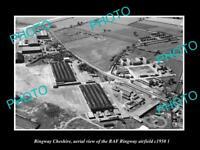 OLD LARGE HISTORIC PHOTO RINGWAY CHESHIRE ENGLAND RAF RINGWAY AIRFIELD c1950 2