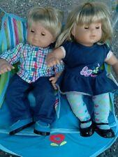 American Girl Bitty Baby Twins Blonde/Blue Eyes Boy/Girl Dollsplus AG Stroller