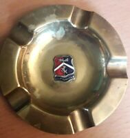 Vintage Crested Brass/Copper Ashtray - Cliftonville 9cms Diameter Good Condition
