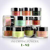 SNS Nail Color Dipping Powder No Liquid, No Primer, No UV Light Variety 1oz 1-82