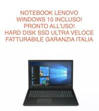 "Pc Computer Portatile Notebook 15,6"" Lenovo 256GB Ssd 4GB Ram Windows 10"