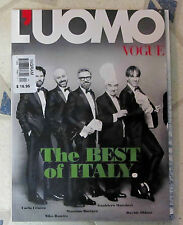 L'UOMO VOGUE April 2015 ITALY BEST Tri-Fold Cover ALESSANDRO ROJA Italian CHEFS
