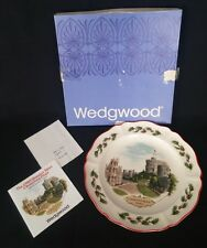 Wedgwood 1980 Queen's Ware Christmas Plate 'Windsor Castle'