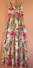 Ladies Womens Casual Long Floral Cotton Sundress Jay-Jays Size 6 NWT