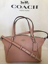 COACH Mini Kelsey F28994 Pebbled Leather Shoulder Crossbody Handbag SV/Petal NWT