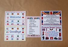 British Values, Diversity, Welcome, Goodbye, Poster Bundle. Teachers, OFSTED