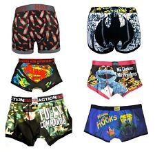 Mens Character Boxer Shorts Cartoon Superhero Novelty Boxers Underwear New