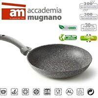 Padella Dura in Pietra 32 cm Antiaderente Manico Soft Touch Accademia Mugnano