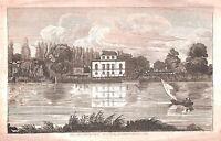 Brandenburg House.Hammersmith.1822.London.River Thames.Architecture.River.Art