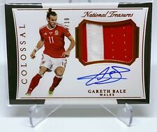 Gareth Bale National Treasures Colossal Patch On Card Auto 3/10