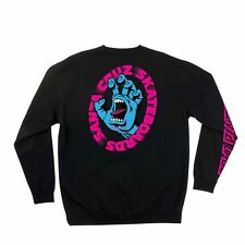 Santa Cruz SCREAMING HAND SCREAM LONG SLEEVE Skateboard Fleece Crew BLACK XL