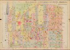 1909 WEST NEW YORK NORTH BERGEN HUDSON COUNTY NEW JERSEY 5TH-18TH ST. ATLAS MAP